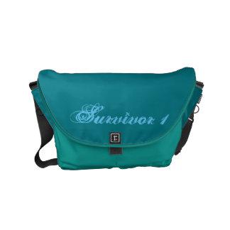 Besace Petit sac foncé du survivant 1 de turquoise et de