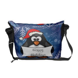 Besace Pingouin de Noël
