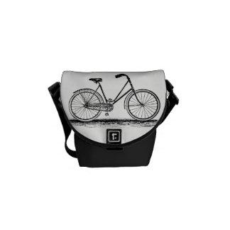 Besace Vélo vintage gravant le mini sac messenger