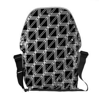 Besaces Motif de grille affligé noir et blanc