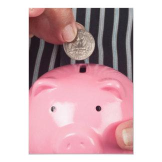 Besparing voor pensionering 12,7x17,8 uitnodiging kaart
