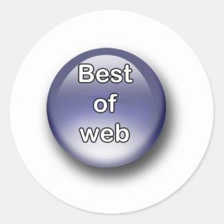 Best of Web Sticker Rond