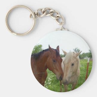 Beste Vrienden BFF voor altijd - Paarden Sleutelhanger