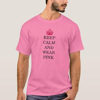 Beteken Meisjes - houd het Kalme en Roze van de T Shirt