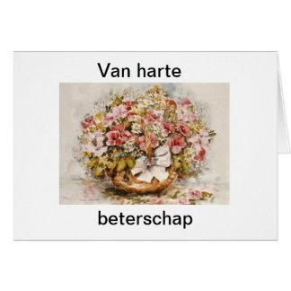 Beterschapskaart bloemen briefkaarten 0