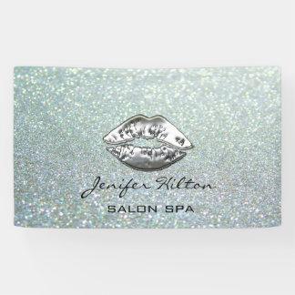 Betoverende moderne elegante glittery zilveren spandoek
