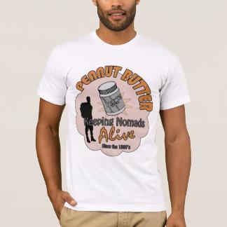 Beurre d'arachide - maintenant des nomades vivants t-shirt