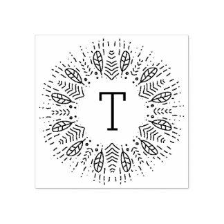 Bevederd Monogram Rubberstempel