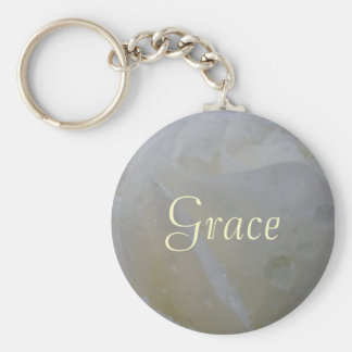 Bibelot de porte - clé de rose blanc de grâce porte-clés