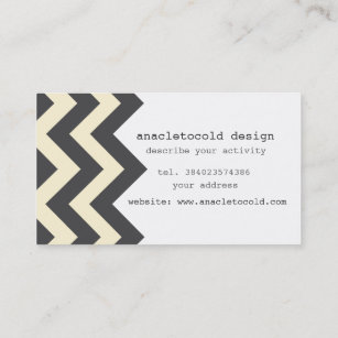 Carte De Visite Bicolore Moderne Zigzag