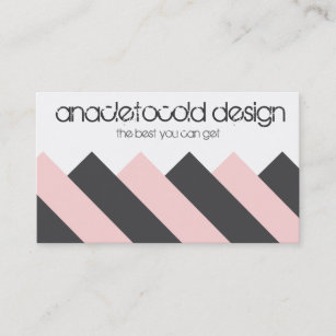 Carte De Visite Bicolore Moderne