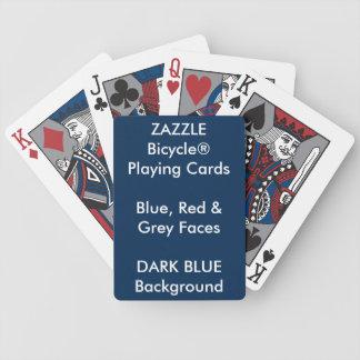 Bicycle® fait sur commande bleu, cartes de jeu jeu de cartes