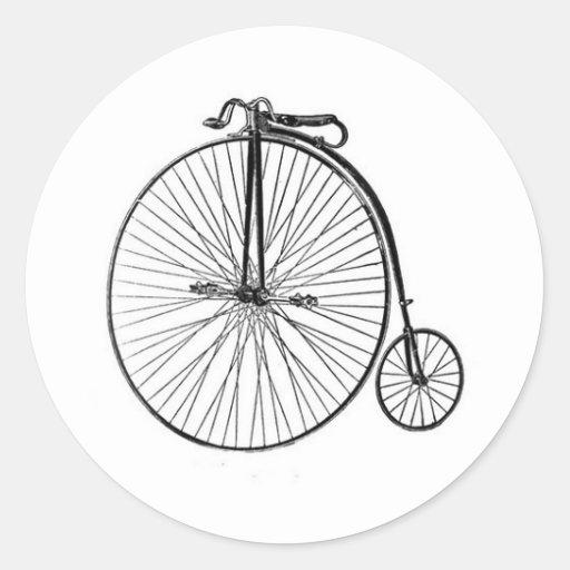 Bicyclette antique de quart de penny de penny adhésifs ronds