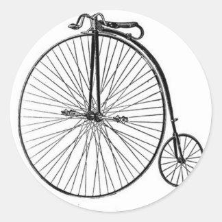 Bicyclette antique de quart de penny de penny sticker rond