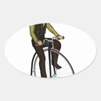 Bicyclette de quart de penny de penny autocollant ovale