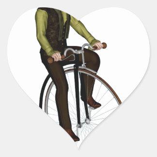 Bicyclette de quart de penny de penny autocollant en cœur