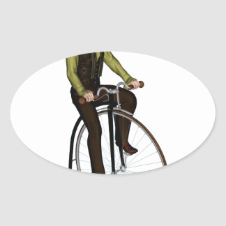 Bicyclette de quart de penny de penny sticker ovale