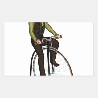 Bicyclette de quart de penny de penny sticker rectangulaire
