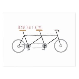 Bicyclette pour deux carte postale