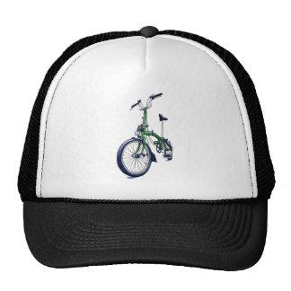 Bicyclette verte de Brompton Casquettes De Camionneur