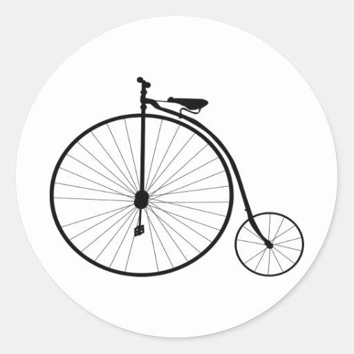 Bicyclette victorienne d'ère de quart de penny de adhésif rond
