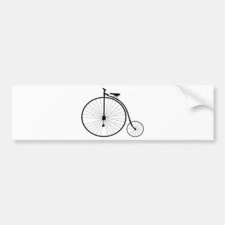 Bicyclette victorienne d'ère de quart de penny de  autocollant de voiture
