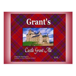 Bière anglaise de Grant du château de Grant Carte Postale
