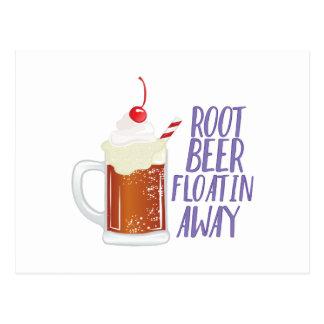 Bière de racine Floatin Carte Postale