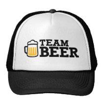 Bière d'équipe casquettes de camionneur