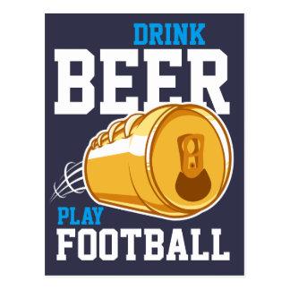 Bière et le football carte postale
