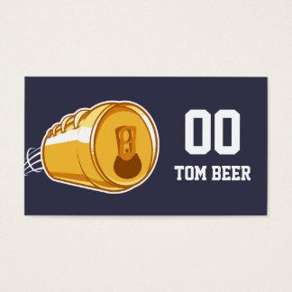 Bière et le football cartes de visite