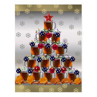 Bière et pommes chips carte postale