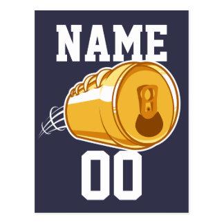Bière personnalisée et le football carte postale