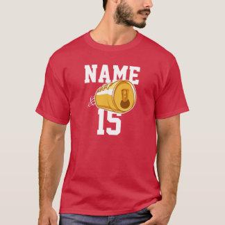Bière personnalisée et le football t-shirt