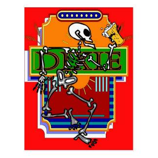 Bière squelettique 2 de Dixie Carte Postale