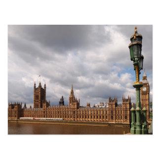 Big Ben et Chambres du Parlement dans la carte de