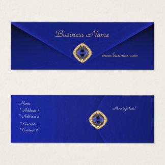 Bijou bleu riche 2 de velours d'affaires de carte
