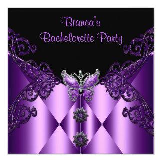 Bijou lilas pourpre de papillon de partie de carton d'invitation  13,33 cm