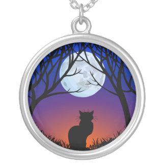 Bijoux de chat de cadeaux d'art de chat noir de