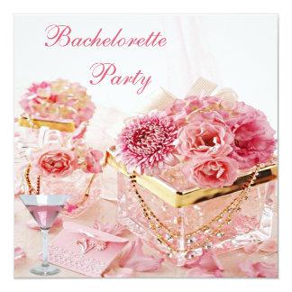 Bijoux, Martini rose et partie de Bachelorette de Carton D'invitation 13,33 Cm