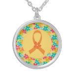 Bijoux oranges de ruban de conscience de sclérose collier personnalisé