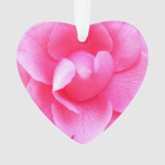 Bijoux - pendentif - camélias roses foncés 1 et 2
