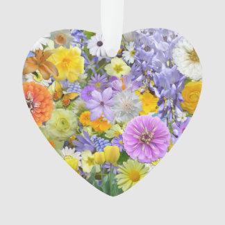 Bijoux - pendentif - fleurs et papillons