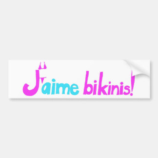 Bikinis de J'aime ! Autocollant De Voiture