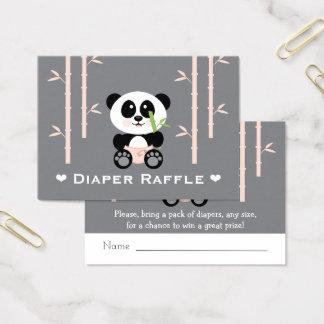 Billets roses de tombola de couche-culotte de cartes de visite