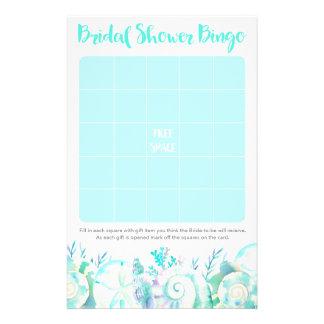 Bingo-test nuptiale de douche de coquillage prospectus 14 cm x 21,6 cm