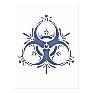 Biohazard bleu de Delft Cartes Postales