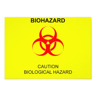 BIOHAZARD CARTON D'INVITATION  12,7 CM X 17,78 CM