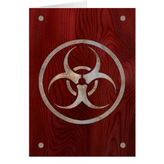 Biohazard corrodé carte de vœux