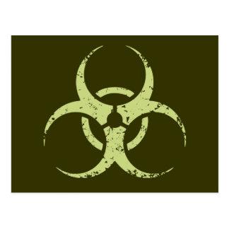 Biohazard - dist - vert carte postale